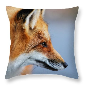 Fox Profile Throw Pillow