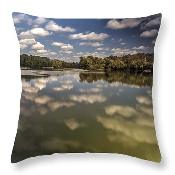 Fox River Lighthouse Geneva Illinois Throw Pillow