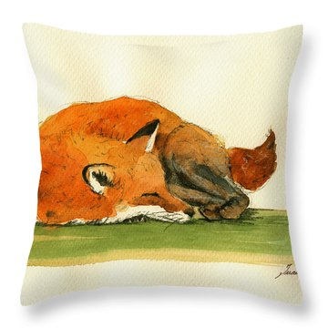 Fox Throw Pillows