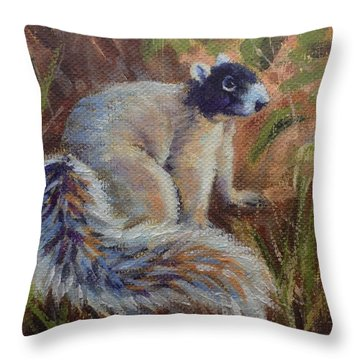 Fox Squirrel Throw Pillow by Pam Talley