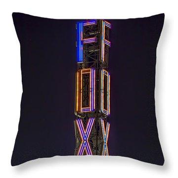 Throw Pillow featuring the photograph Fox Theatre Detroit by Nicholas  Grunas
