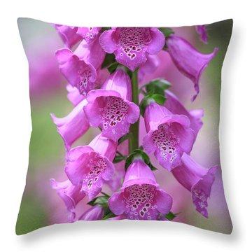 Throw Pillow featuring the photograph Foxglove Flowers by Edward Fielding
