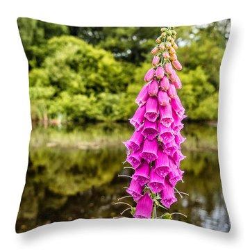 Foxglove In Flower Throw Pillow
