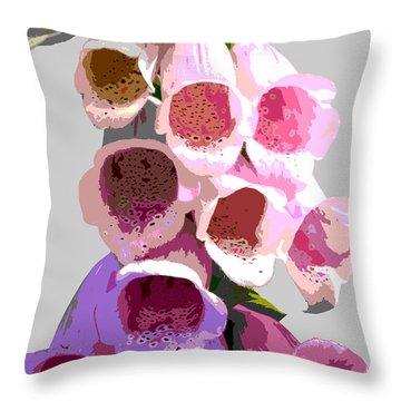 Foxglove Throw Pillow