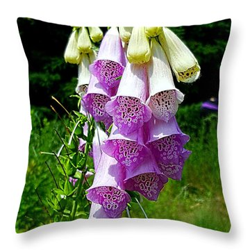Foxglove Throw Pillow