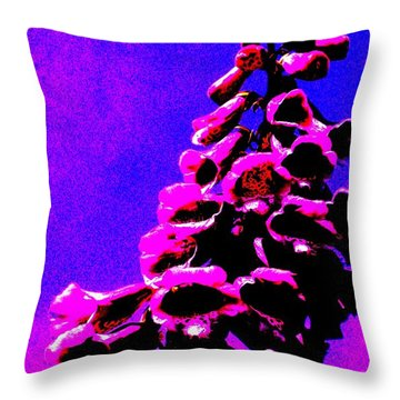 Throw Pillow featuring the painting Foxglove by Renate Nadi Wesley