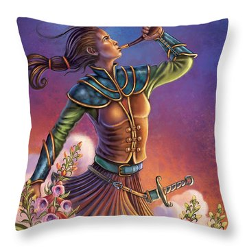 Foxglove - Summon Your Courage Throw Pillow