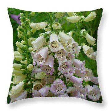 Foxglove Up Close Throw Pillow by Shirley Heyn