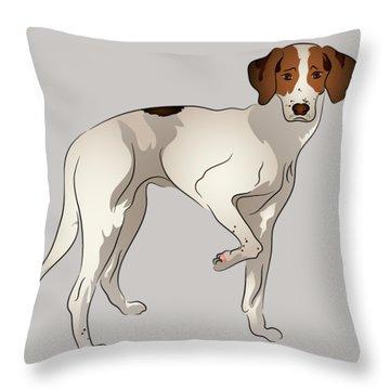 Foxhound Throw Pillow