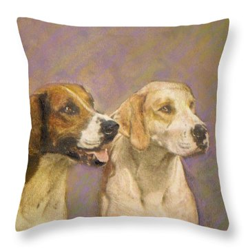 Foxhound Pals Throw Pillow