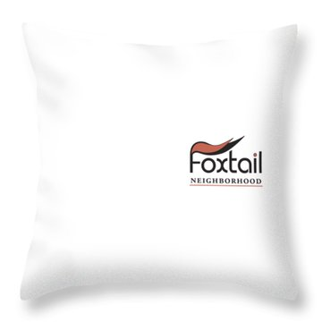 Foxtail Logo Throw Pillow by Arthur Fix