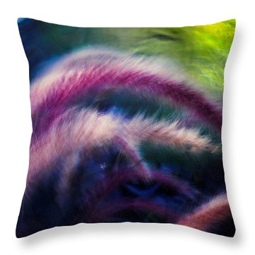 Foxtails In Shadows Throw Pillow