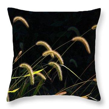 Foxtails Throw Pillow