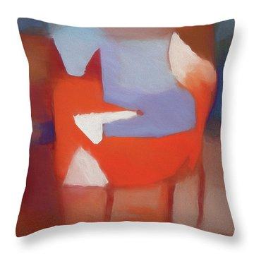 Foxy Art Throw Pillow