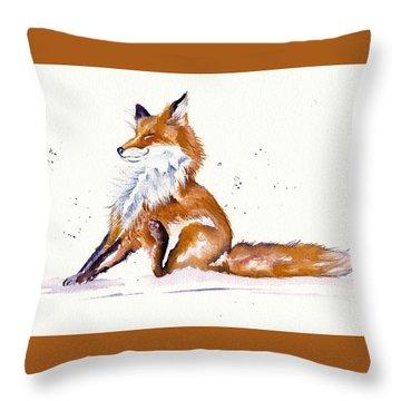 Foxy Flea Magnet Throw Pillow