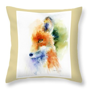 Foxy Impression Throw Pillow by Christy Lemp