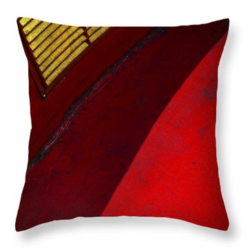Throw Pillow featuring the photograph Foxy by Skip Hunt