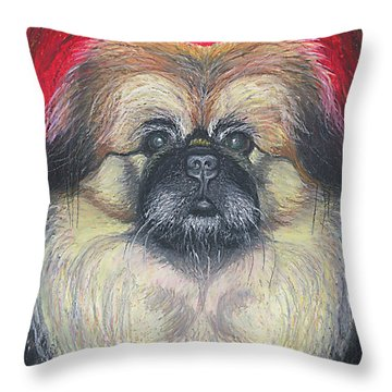 Fozy Bear Pekingese Throw Pillow