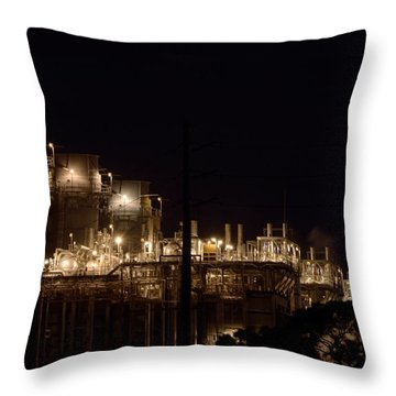 Throw Pillow featuring the photograph Fpl Natural Gas Power Plant  by Bradford Martin