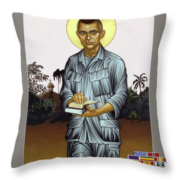 Fr. Vincent Capodanno, The Grunt Padre - Lwvcd     Throw Pillow