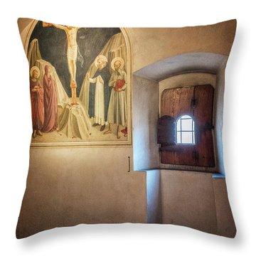 Fra Angelico Fresco Florence Italy Throw Pillow