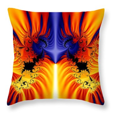 Fractal 145 Throw Pillow