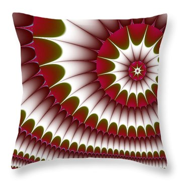 Fractal 634 Throw Pillow