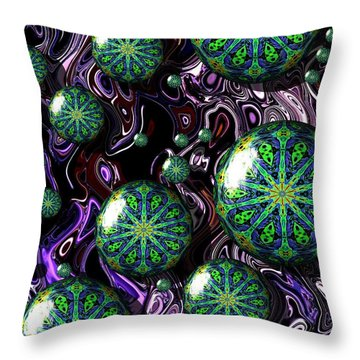 Fractal Abstract 7816.5 Throw Pillow