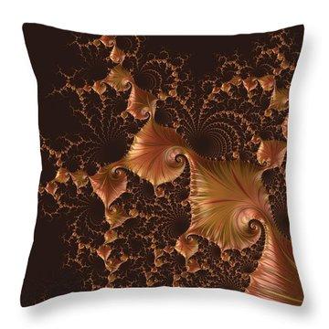 Throw Pillow featuring the digital art Fractal Alchemy by Susan Maxwell Schmidt