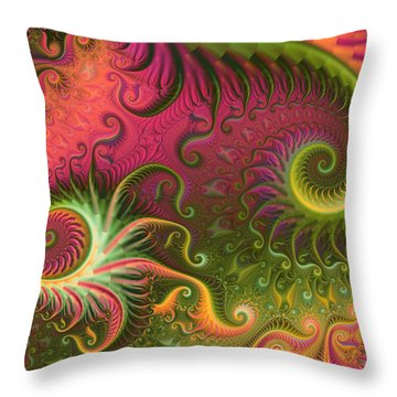 Fractal Ameba Throw Pillow