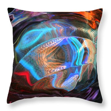 Throw Pillow featuring the photograph Fractal Ball by Kate Word