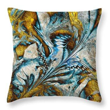 Throw Pillow featuring the digital art Fractal Design by Klara Acel