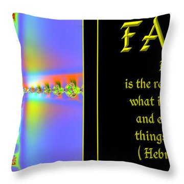 Fractal Faith Hebrews 11 Throw Pillow