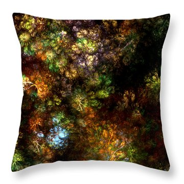 Fractal Flowers Throw Pillow