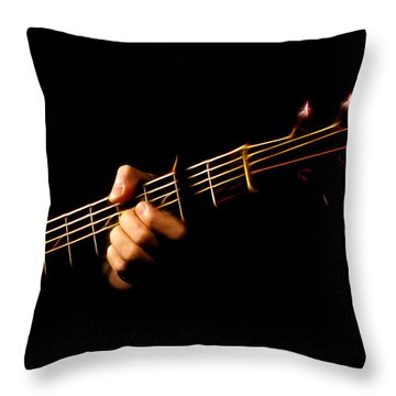 Fractal Frets Throw Pillow by Cameron Wood