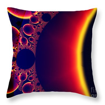 Fractal Galaxy Sunset  Throw Pillow