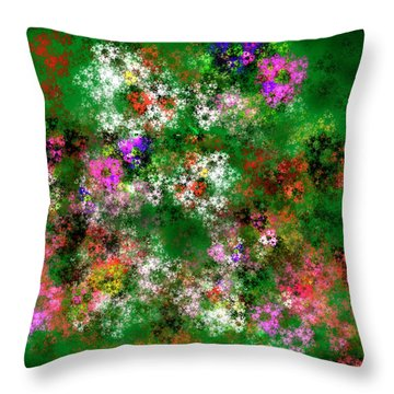 Fractal Garden Throw Pillow by Michael Durst
