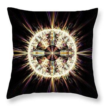 Fractal Jewel Throw Pillow