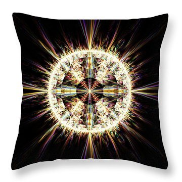 Throw Pillow featuring the digital art Fractal Jewel by Bee-Bee Deigner