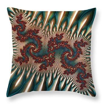 Fractal Landscape V Throw Pillow