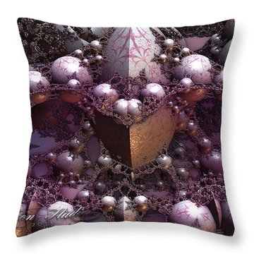 Fractal Mine Field Throw Pillow