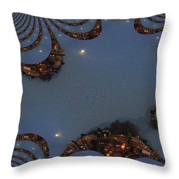 Fractal Moon Throw Pillow by Tim Allen