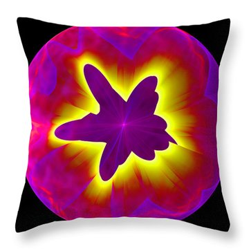 Fractal Pattern Inside A Sphere Throw Pillow
