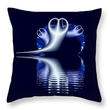 Fractal Peeble Ghosts Throw Pillow