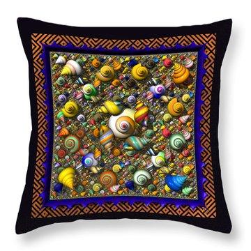 Fractal Shell Collector Throw Pillow