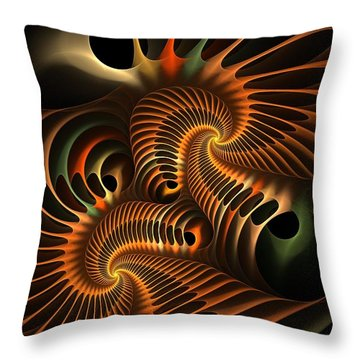 Fractal Spirochete Throw Pillow