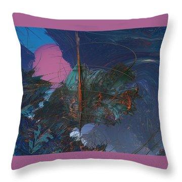 Fractal Sunset Throw Pillow