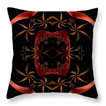 Fractal Symmetry Throw Pillow