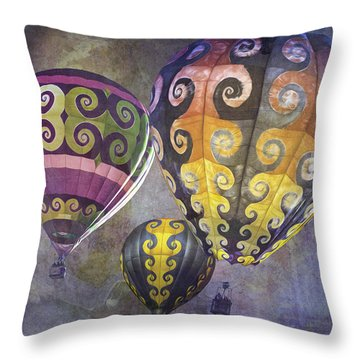 Fractal Trio Throw Pillow by Melinda Ledsome
