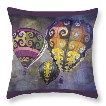 Throw Pillow featuring the photograph Fractal Trio by Melinda Ledsome